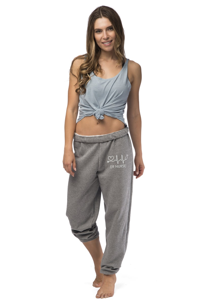 Personalized Gifts for Nurses RN Sweats OVERSIZED Boyfriend Sweatpants Custom Apparel for Nurses Nurse Sweats Nurse Joggers