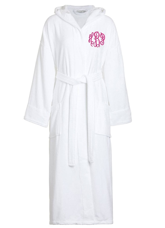Monogrammed Terry Velour Hooded Robe Personalized Velour  43116c3fc
