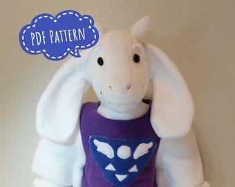 Toriel Plush Sewing Pattern (Inspired by Undertale)