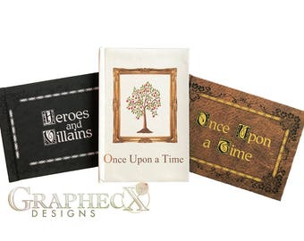 Fan-made Once Upon a Time OUAT Storybook cosplay inspired personalized hardcover journal notebook