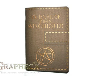 Supernatural John Winchester journal inspired personalized notebook