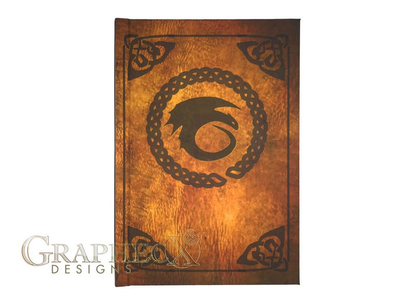 Fan-made Book of Dragons Hardcover Journal inspired image 0