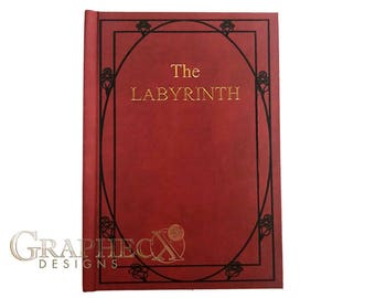 Fan-made The Labyrinth Red Book inspired personalized hardcover journal notebook