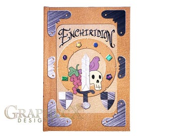 Fan-made Adventure Time Enchiridion inspired personalized hardcover journal notebook