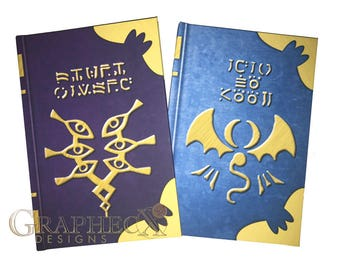 Fan-made Fire Emblem Spell Tomes Book of Naga Grima's Truth inspired personalized hardcover journal notebook