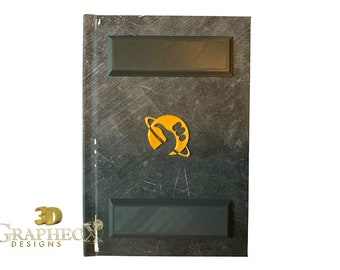 Fan-made 3D Hitchhiker's Guide to the Galaxy inspired personalized hardcover journal notebook