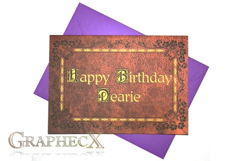 Once Upon A Time Inspired Personalized Birthday Card