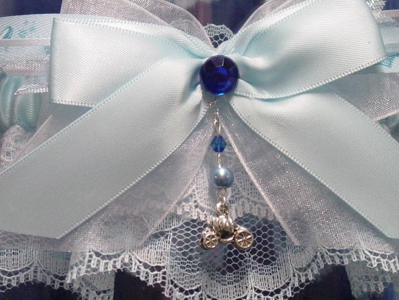 Cinderella Inspired Garter Set in Blue