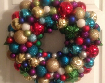 christmas ball wreath - Christmas Ball Wreath