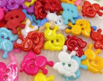 100x Ice cream Plastic Button backhole craft mix Free Shipping PT17