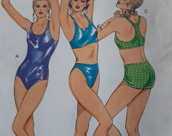 Kwik Sew Ladies One Piece Racing Swimsuit Size 8-12