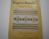 ENGLISH Smocking Patterns Book, Step by Step by Sandy Hunter, vintage smocking patterns, dresses, nightgown, apron, more