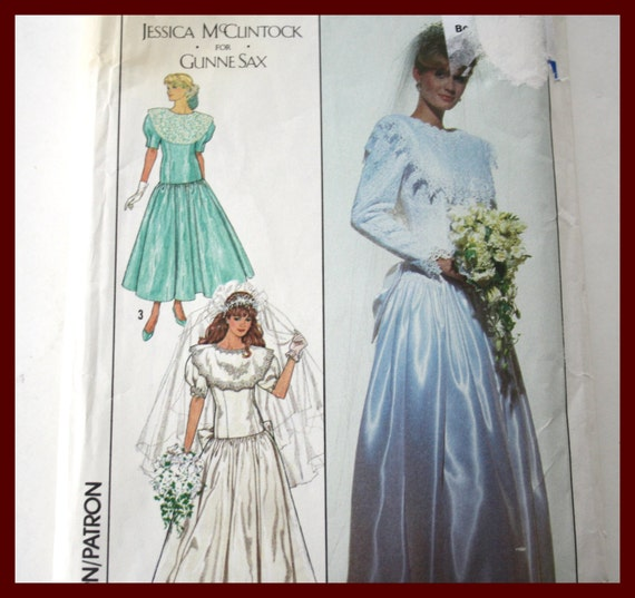 UNCUT Simplicity 9009 Size 10 VINTAGE Wedding Dress Pattern Bridal ...