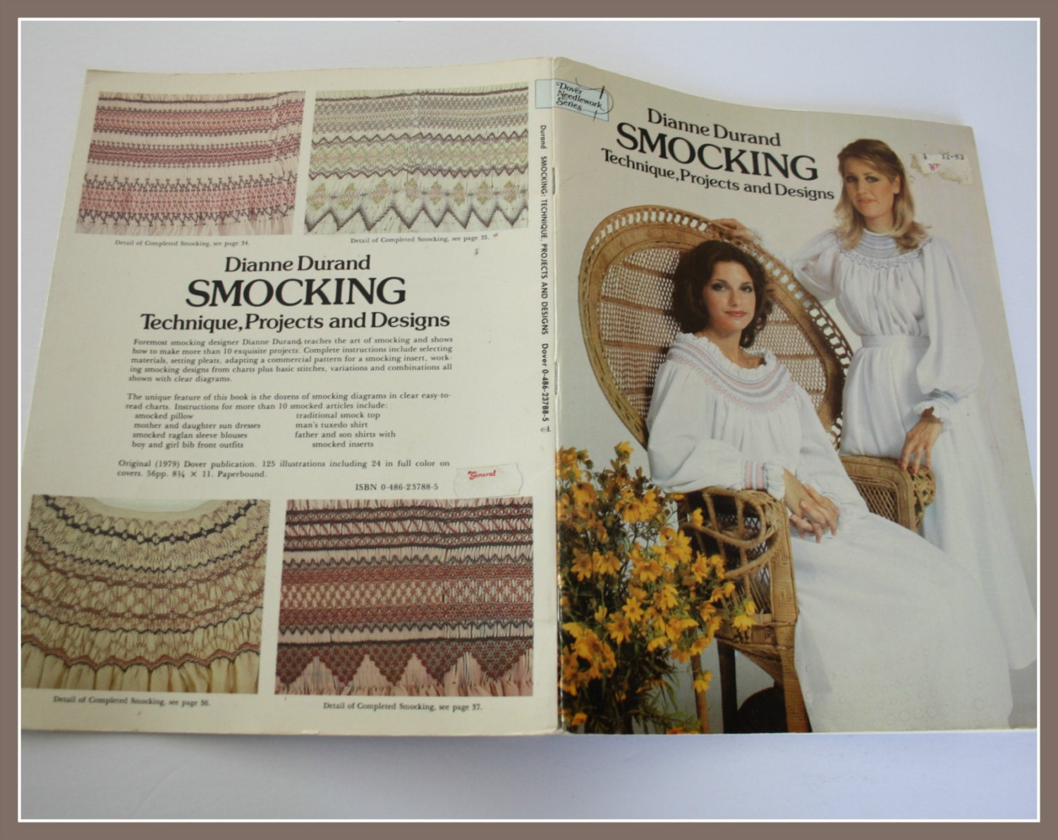 SMOCKING Patterns by Dianne Durand Smocking Technique Projects and Designs  UNUSED pattern book includes smocked nightgown-pillow-smocked top