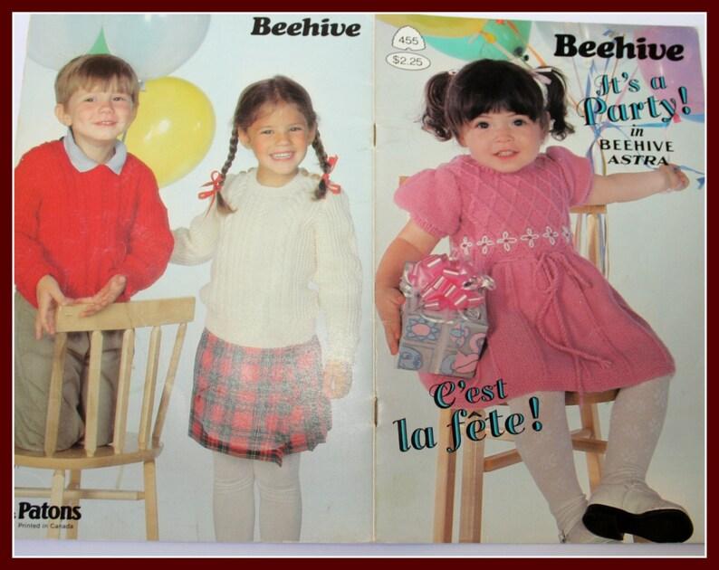 f5098c633 Patons 455 Beehive Book KNITTING Patterns Crochet Patterns