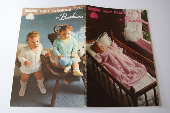81afa7938 Patons 133 Beehive Baby Knitting and Crocheting Pattern Book