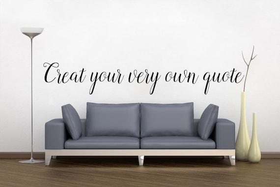 custom wall decals custom quote wall sticker custom vinyl | etsy