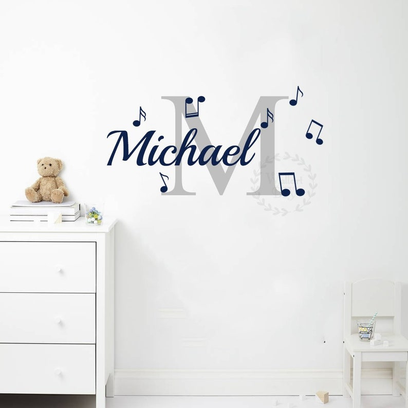 name wall decals music notes wall decal nursery wall mural | etsy
