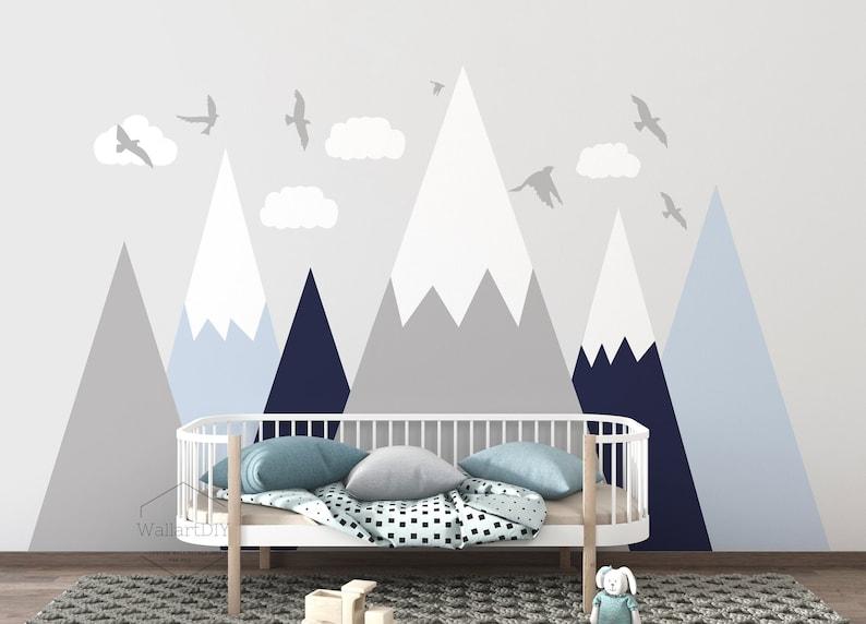 Stickers montagne pour chambre bébé montagne