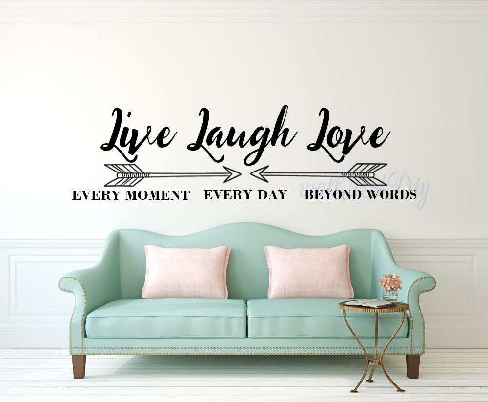 Live Laugh Love Wall Decals Quote Wall Sticker Inspirational Etsy