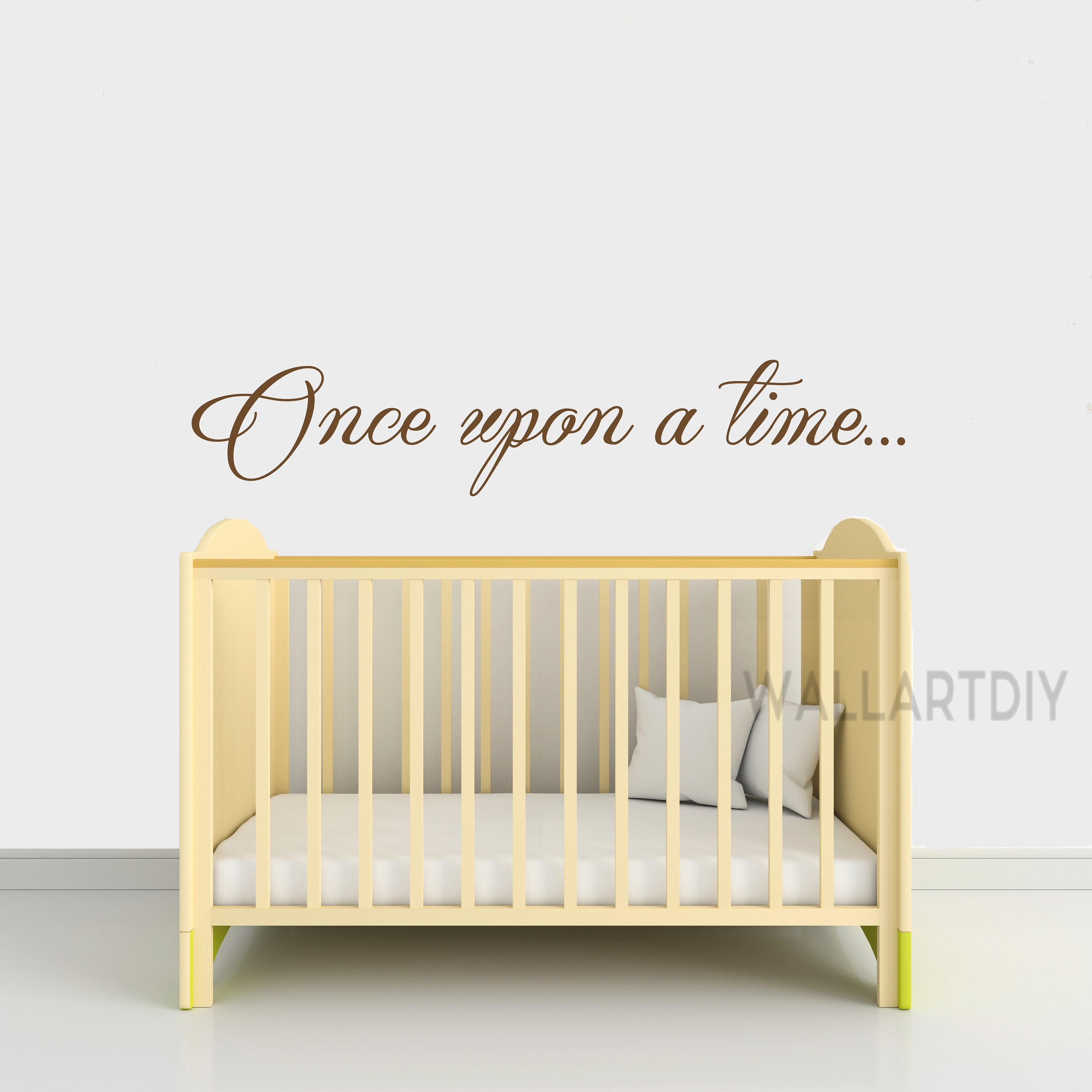 """Wall Quote /""""Once Upon A Time/"""" Wall Art Sticker Modern Transfer. Vinyl Decal"""