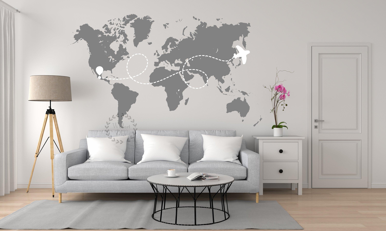 Großartig Weltkarte Wand Beste Wahl 50