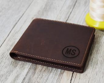 valentine's gift ,Men's Leather Wallet Personalized  Groomsman Wallet,Men's gift wallet engrave Custom  Wallet