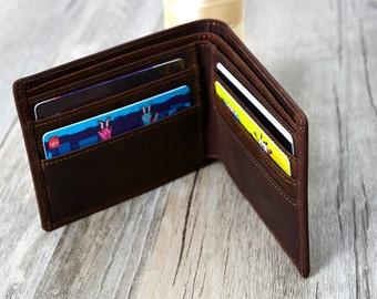 Christmas Gift Wallet  Groomsmens gift Wallet,  Men's Leather Wallet Personalized  Groomsman Wallet,Men's gift wallet , Wallet