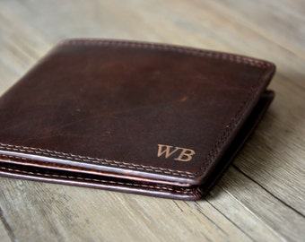 Father's Day Wallet,Personalized Mens Wallet, Engraved Wallet,Monogrammed Leather Wallet, Groomsmens Wallet, Father's Day, Father's  gift