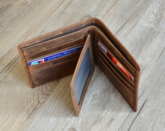 Father's Day,Personalized Mens Wallet, Engraved Wallet, Personalized Monogrammed Leather Wallet, Groomsmens Wallet, father gift