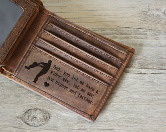 custom fathers day wallet, Engraved Wallet, Personalized  Wallet, Father's Day Wallet , father gift