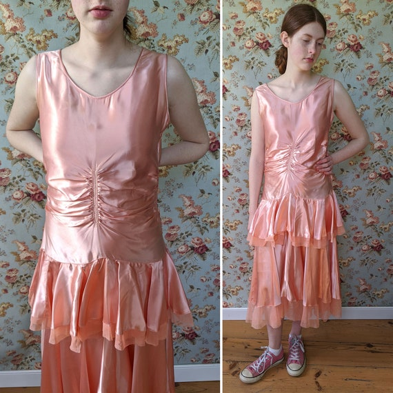 vintage AS IS 1930s liquid satin dress <> early 19