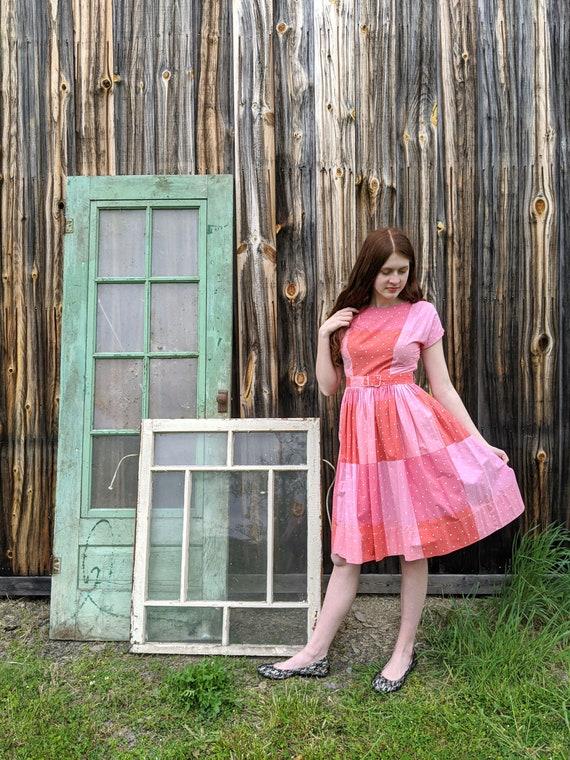 vintage early 1960s dress <> vintage 60s cotton pr