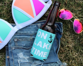 On Lake Time Can Cooler
