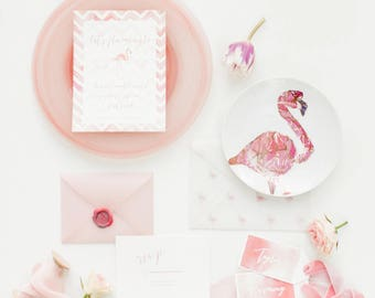 Flamingo Party or Wedding Invitation Printable!