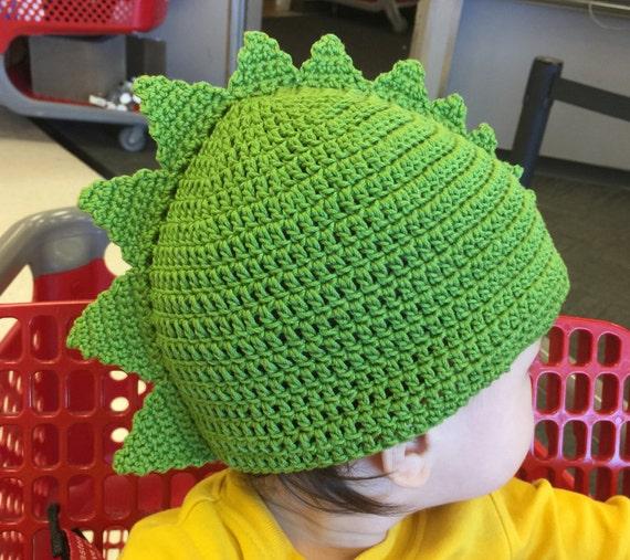 Spiky Dinosaur Hat Pattern Toddler To Child Fits 18 20 Etsy