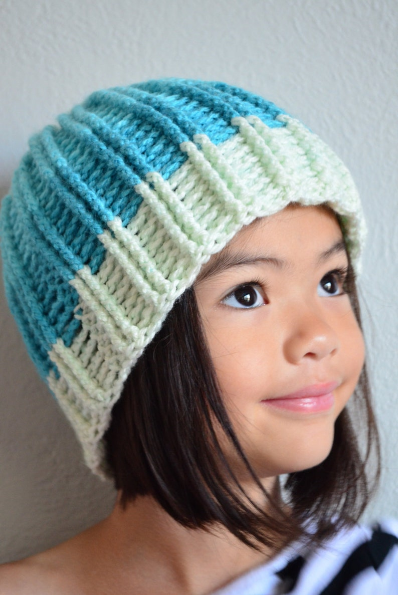 Double Ribbed Beanie Pattern. Crochet Fake knit style. Unisex. image 0