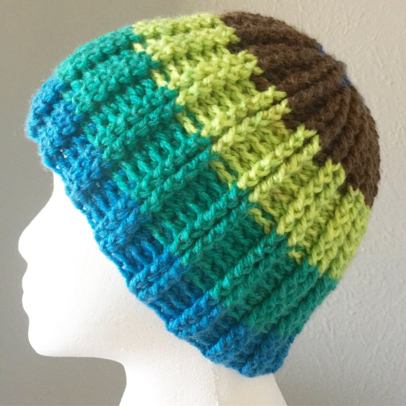 Double Ribbed Beanie Pattern. Crochet. Reversible. Use 1 Caron Cakes ... fe572212163