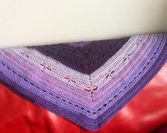 Diane Dragonfly Shawl Crochet Pattern (3 Sizes: Toddler, Child, Adult). Quick and easy (basic stitches only). Great on all ages and sizes.
