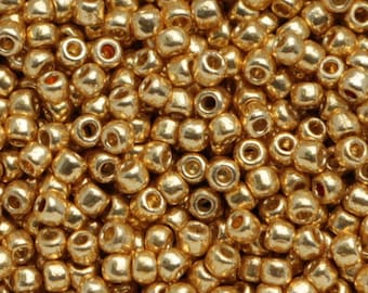 658beffc77dc 10g Toho Seeds Beads 11 0 Permanent Finish Galvanized Starlight TR-11-PF557  size 11 mini rocailles metallic gold golden