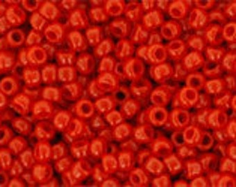 5g Toho Seeds Beads 15/0 Opaque Cherry Red TR-15-45A size 15 Mini Rocailles Bright Red, mini rocailles 1mm