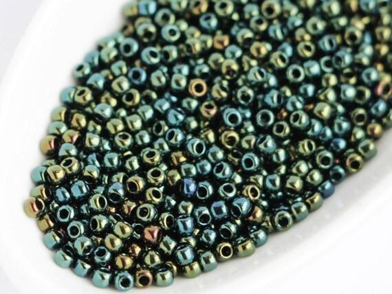 83F Iris Brown TOHO 11//0 Rocailles 2,2mm 10g 20g Bronze Grau Matt HYBRID Code