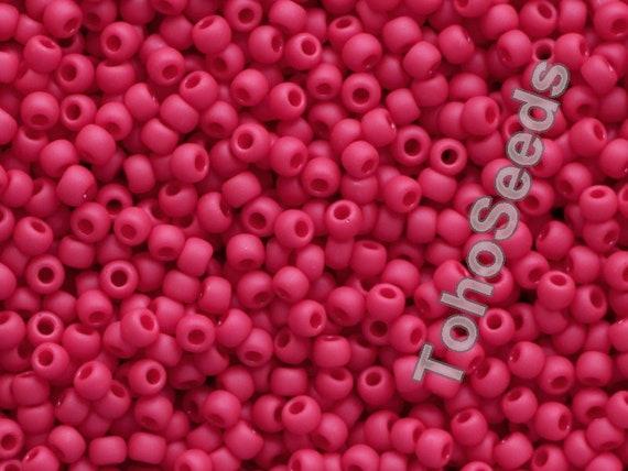 45F pepper red TOHO 11//0 Rocailles 2,2mm 10g 20g Rot matt Pfeffer rot Code