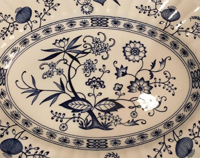 "Vintage J. G. Meakin Nordic 12"" Oval Platter Made in England"