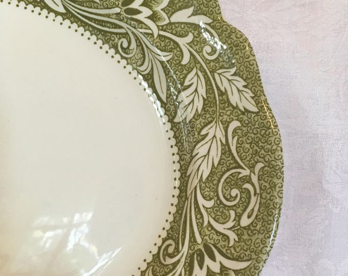 J&G Meakin Royal Staffordshire Ironstone Platter With Green Florals