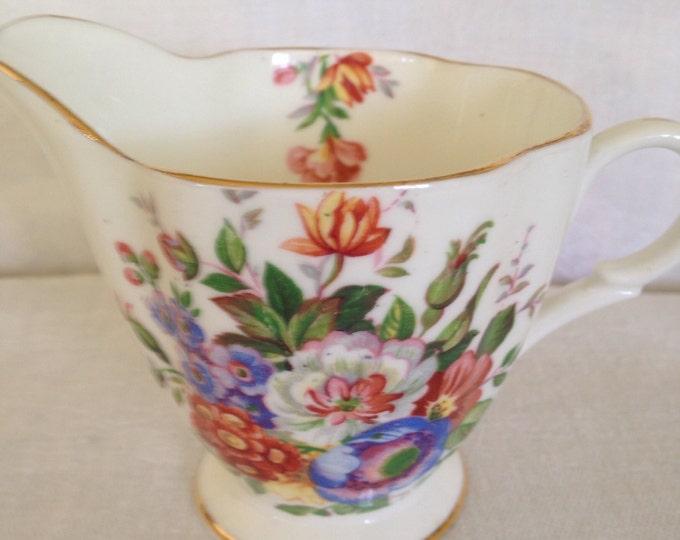 Windsor Bone China Floral Creamer