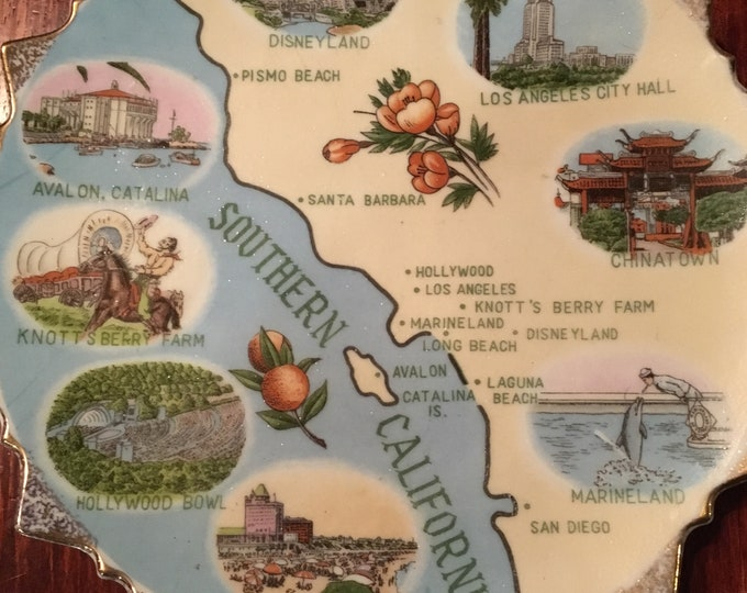 Vintage Southern California Collectible Plate