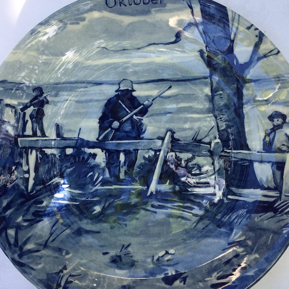 Vintage Delftware Oktober Limited Edition Westraven The Months of the Year Plate