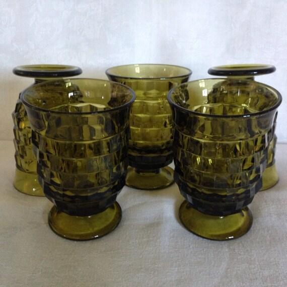 Set/5 Fostoria Whitehall Juice Glasses