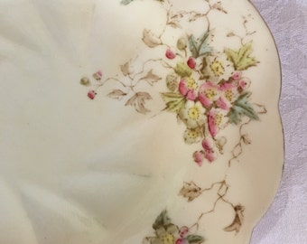 Set/7 Antique Chapman Bone China Dessert Plates